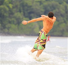Tanjung Resang's gradually sloping beach is prime skimboard territory
