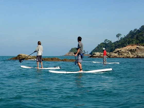 Stand Up Paddling off Tanjung Resang