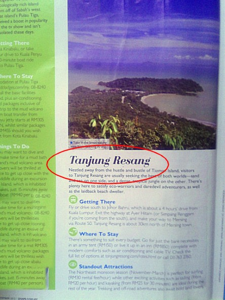 Tanjung Resang in Shape Magazine